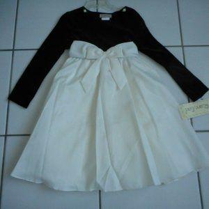 3/$20 New RARE TOO Girl 5 Dress Black Velvet Ivory